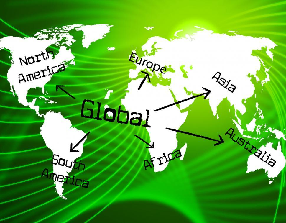 Download Free Stock HD Photo of Global World Represents Commercial Trade And Corporate Online