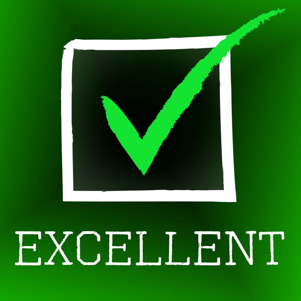 Download Free Stock HD Photo of Tick Excellent Shows Excelling Excellency And Perfection Online
