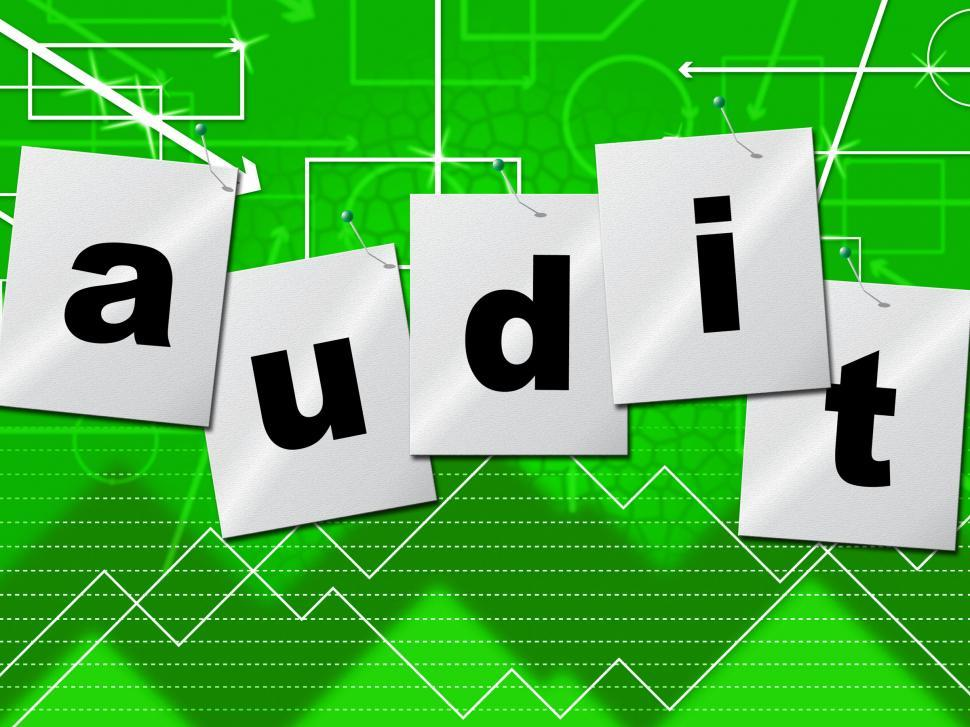 Download Free Stock HD Photo of Graph Audit Indicates Auditing Infograph And Scrutiny Online