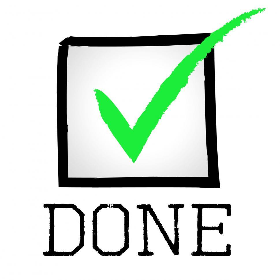 Download Free Stock HD Photo of Done Tick Means Approved Confirm And Passed Online