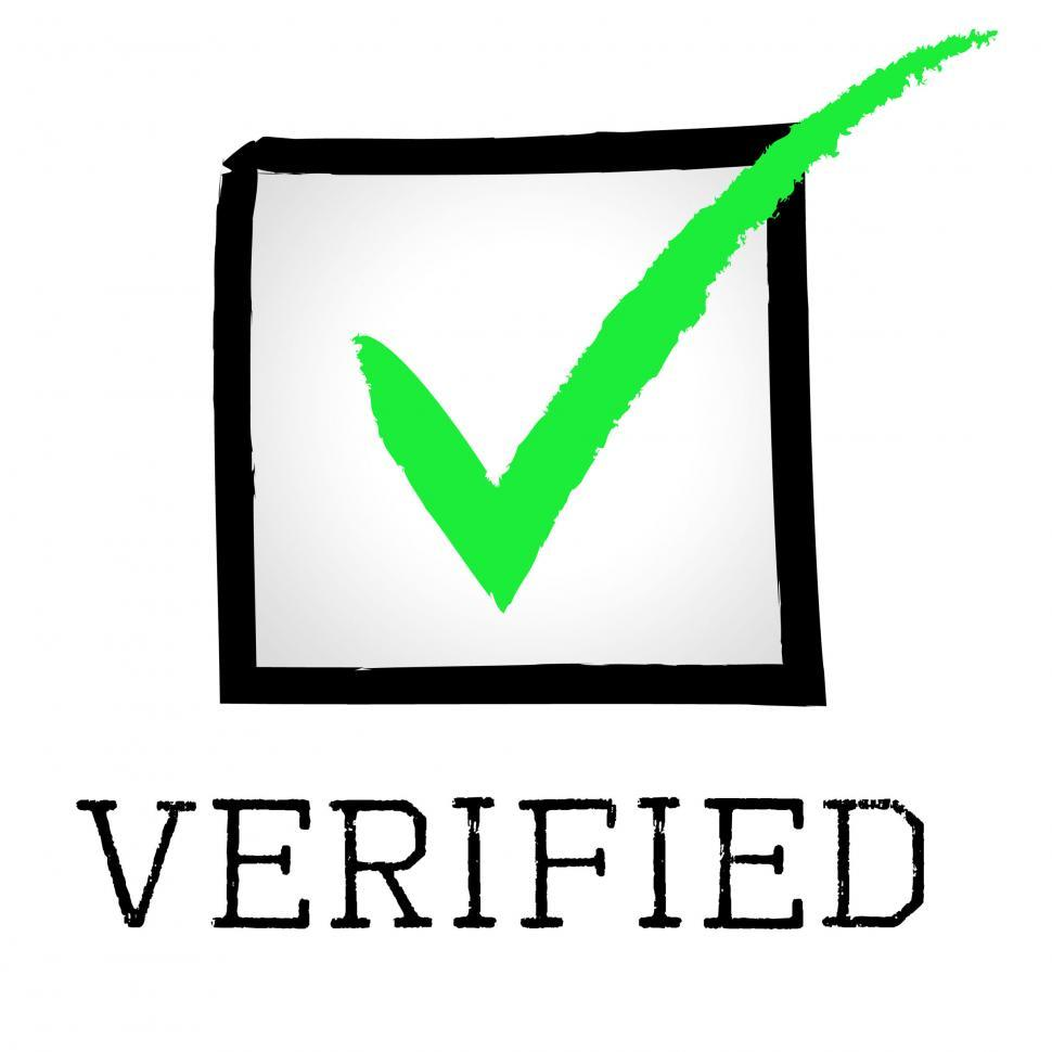 Download Free Stock HD Photo of Verified Tick Means Guaranteed Authentic And Approved Online