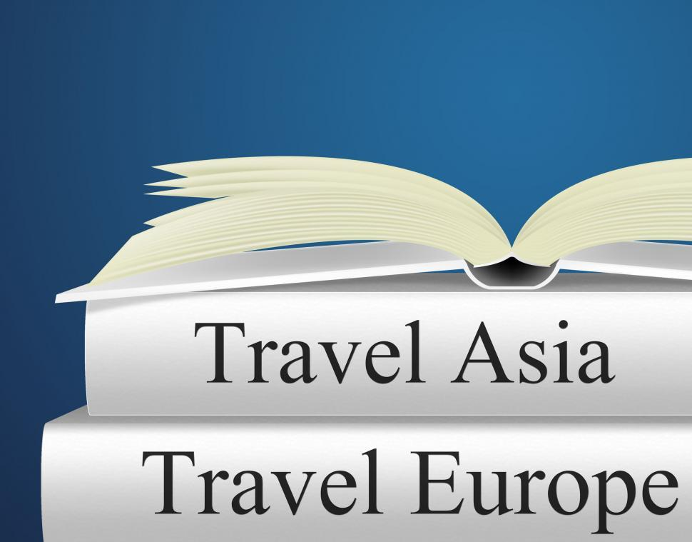Download Free Stock HD Photo of Europe Books Indicates Travel Guide And Asian Online