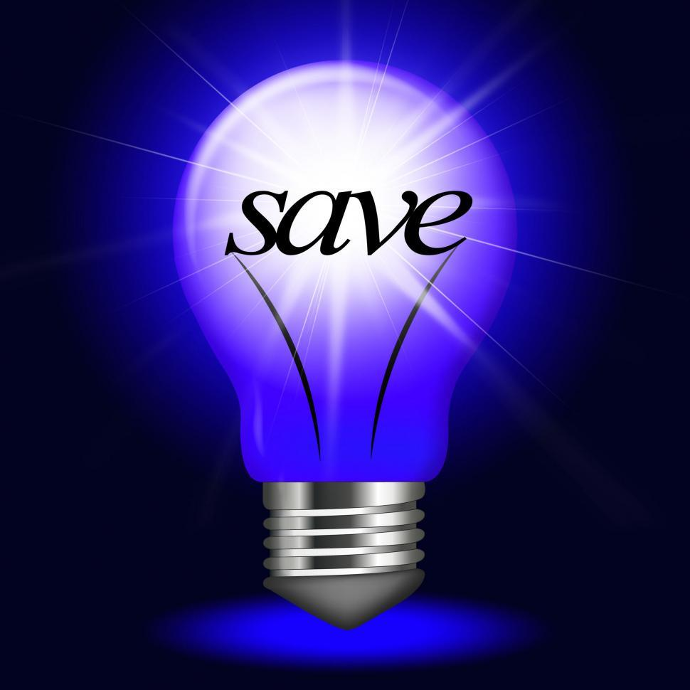 Download Free Stock HD Photo of Lightbulb Save Indicates Savings Investment And Capital Online