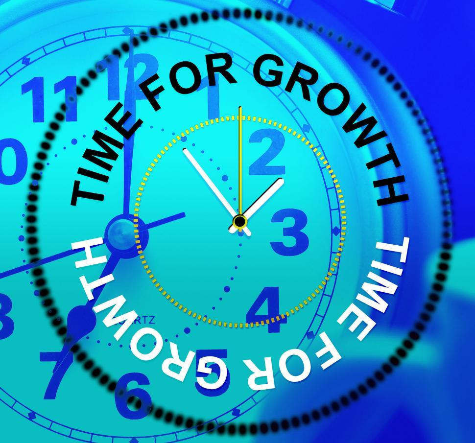 Download Free Stock HD Photo of Time For Growth Shows Gain Development And Growing Online