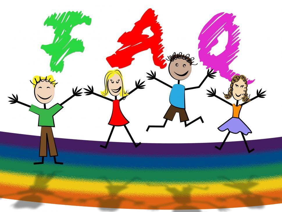 Download Free Stock HD Photo of Kids Faq Means Frequently Asked Questions And Youngster Online