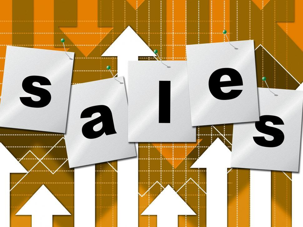 Download Free Stock HD Photo of Selling Sales Shows Business Graph And Market Online