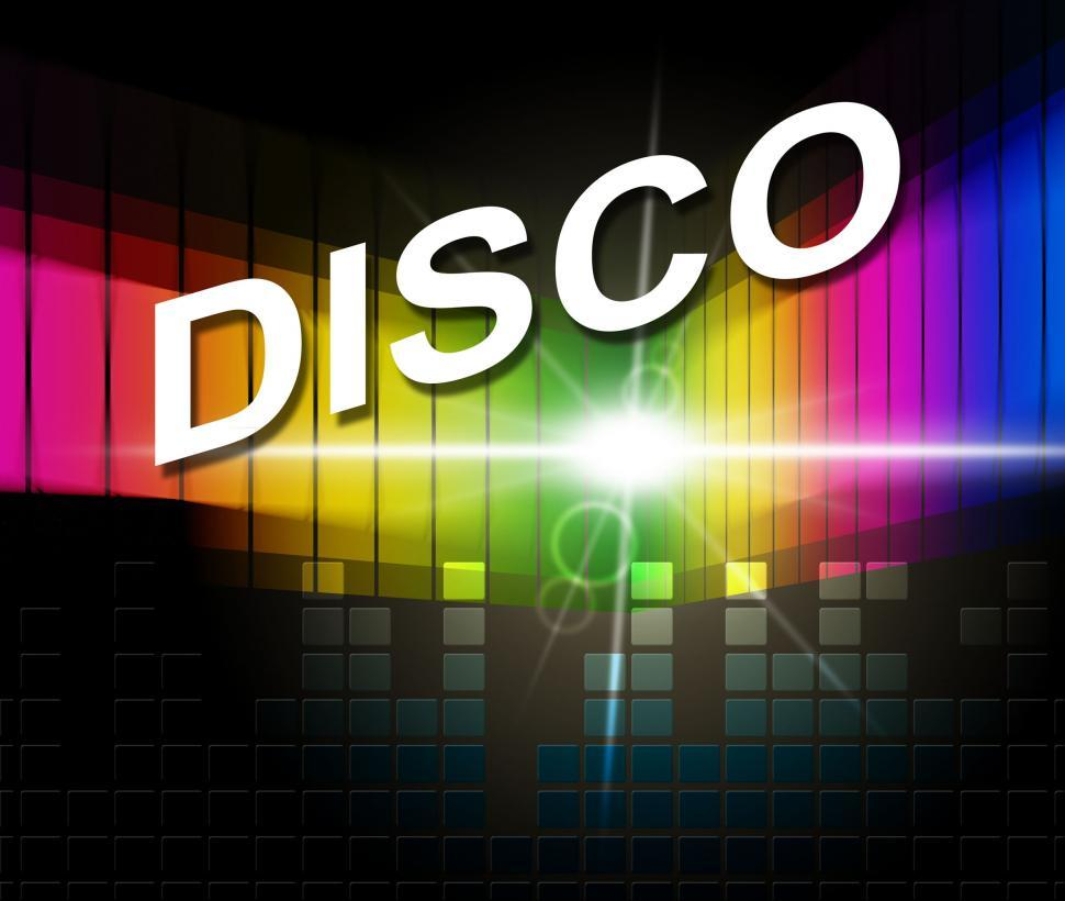 Download Free Stock HD Photo of Disco Music Represents Sound Track And Acoustic Online