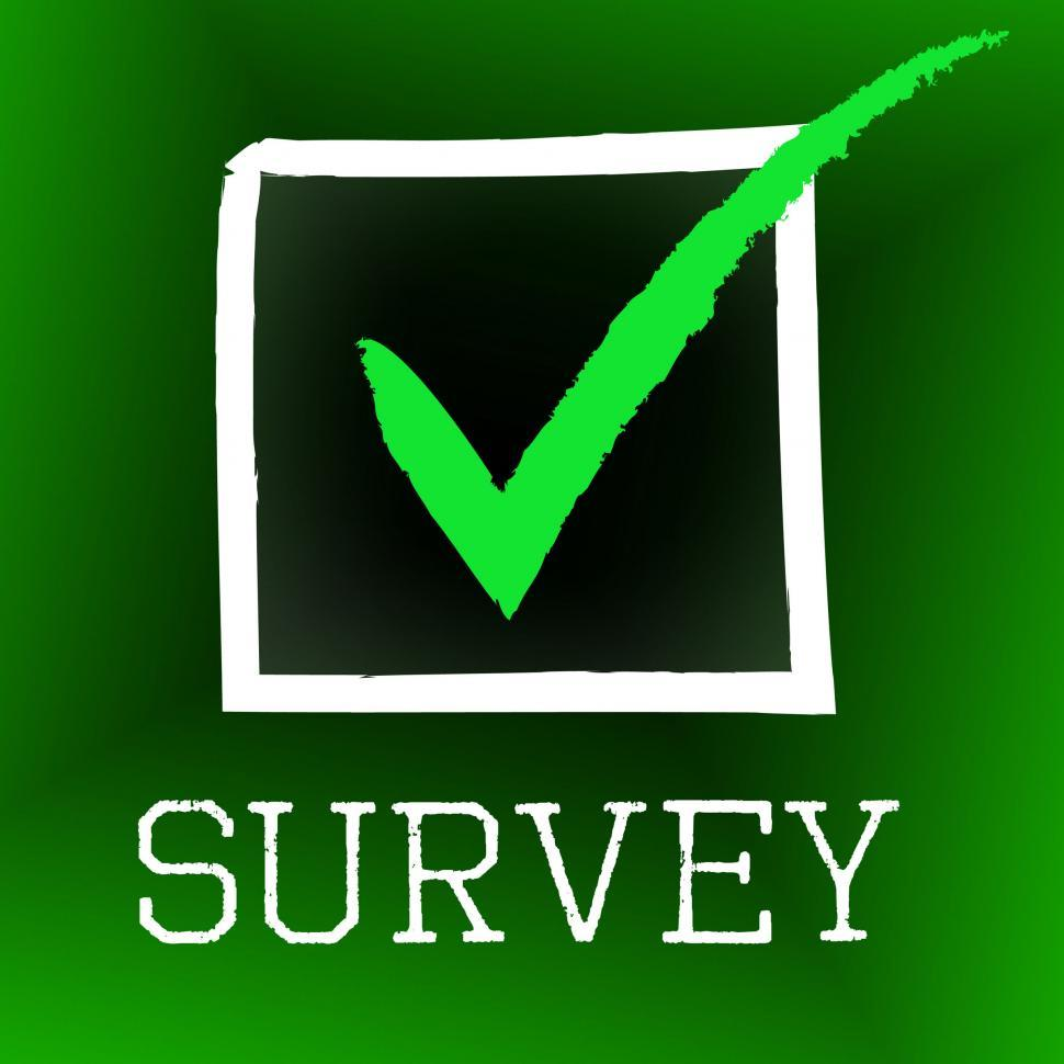 Download Free Stock HD Photo of Survey Tick Indicates Poll Checked And Questionnaire Online