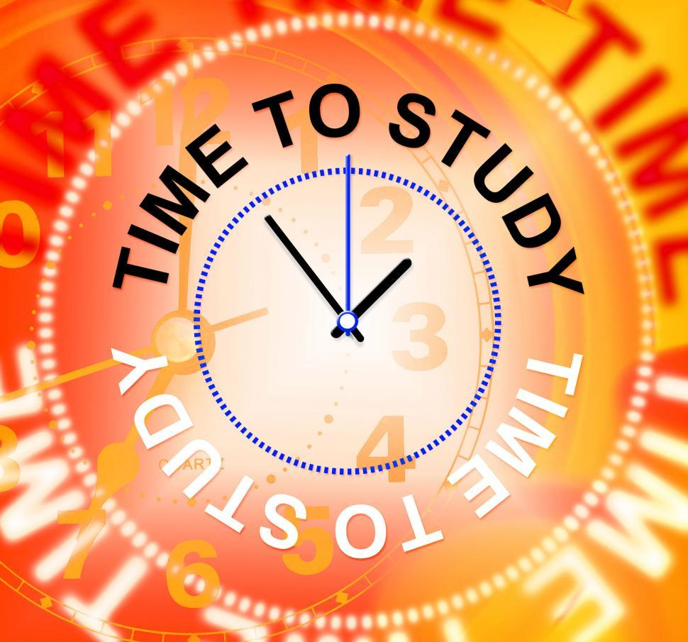 Download Free Stock HD Photo of Time To Study Indicates School Learning And Learned Online