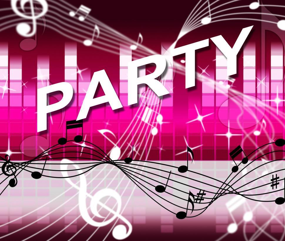 Download Free Stock HD Photo of Music Party Represents Sound Track And Joy Online