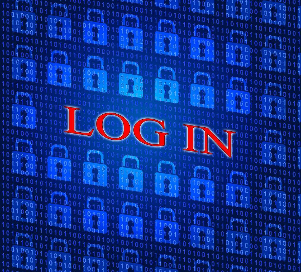 Download Free Stock HD Photo of Log In Indicates World Wide Web And Encryption Online