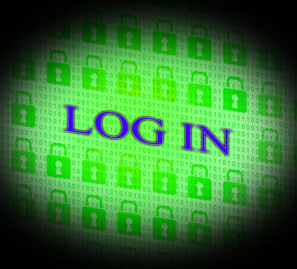 Download Free Stock HD Photo of Log In Shows World Wide Web And Encryption Online
