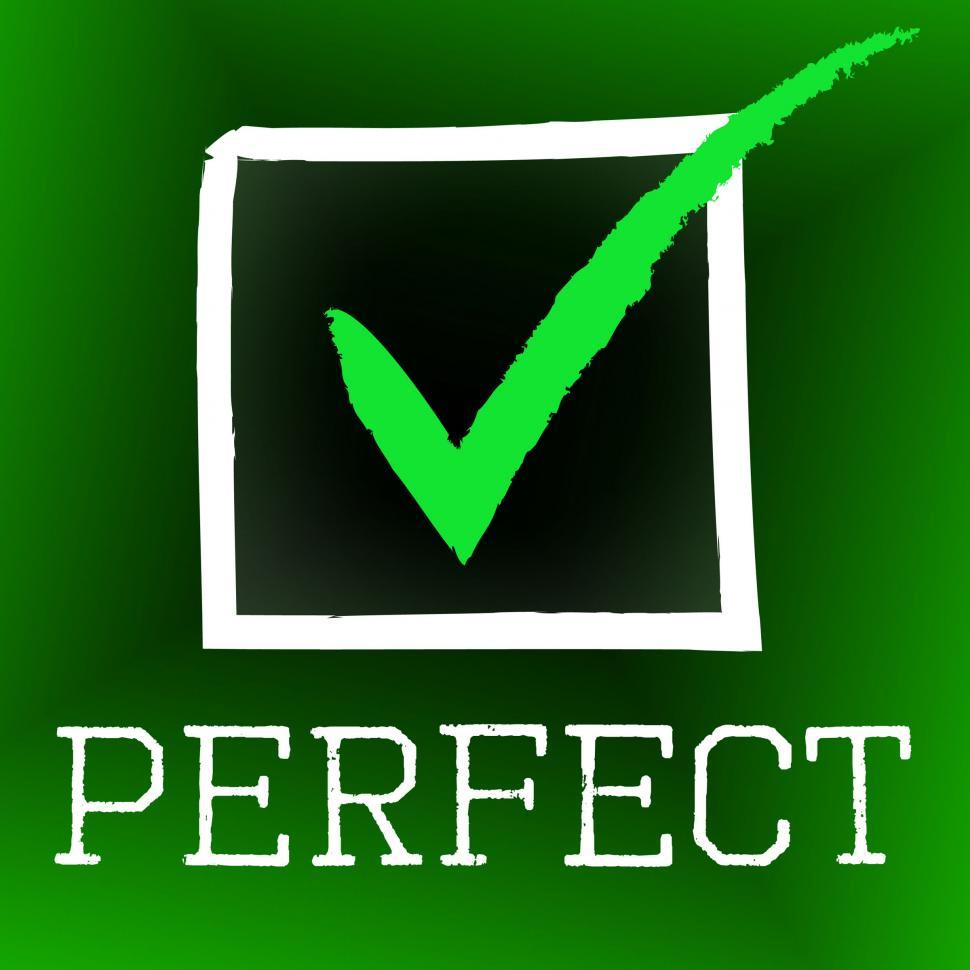 Download Free Stock HD Photo of Tick Perfect Represents Number One And Approved Online
