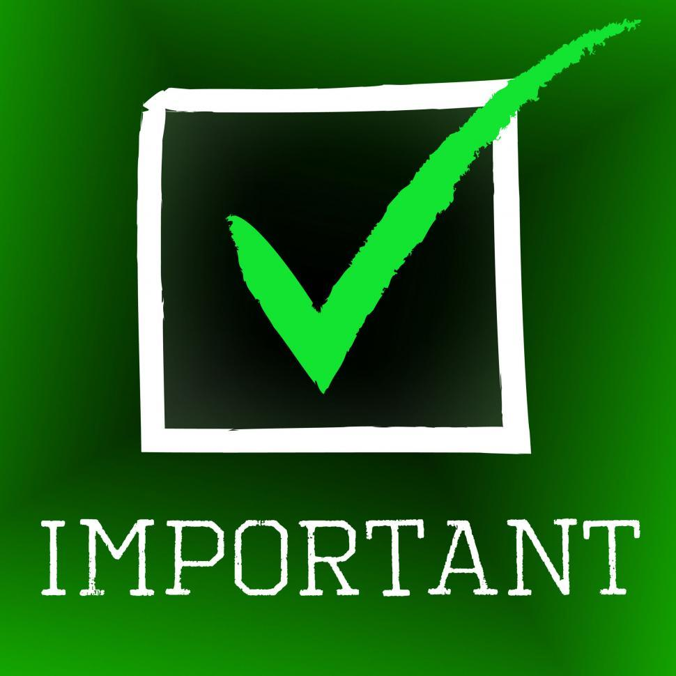 Download Free Stock HD Photo of Important Tick Represents Yes Importance And Momentous Online