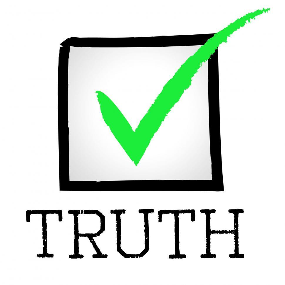 Download Free Stock HD Photo of Tick Truth Shows No Lie And Approved Online