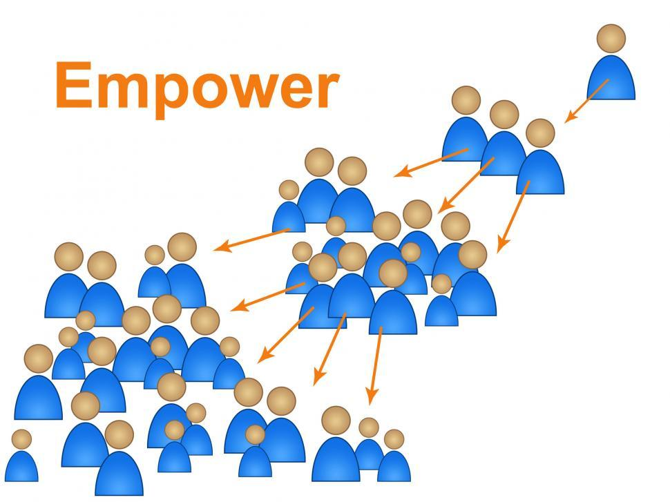 Download Free Stock HD Photo of Empower Leadership Means Authority Control And Management Online