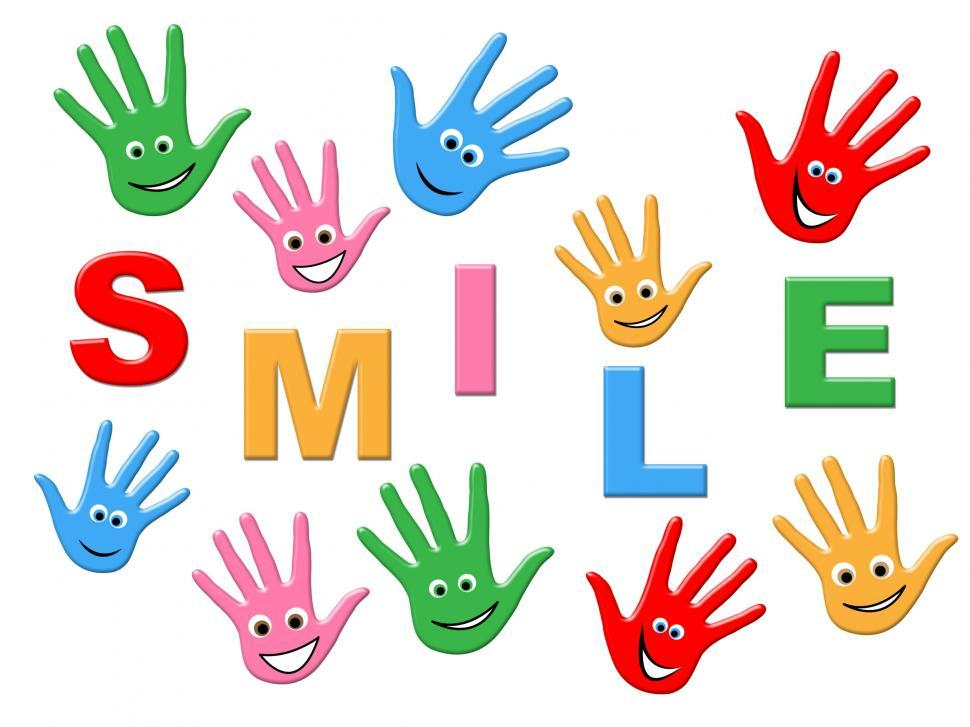 Download Free Stock HD Photo of Joy Smile Indicates Drawing Child And Colorful Online