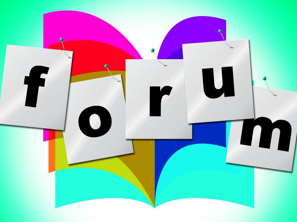 Download Free Stock HD Photo of Forum Forums Indicates Social Media And Group Online