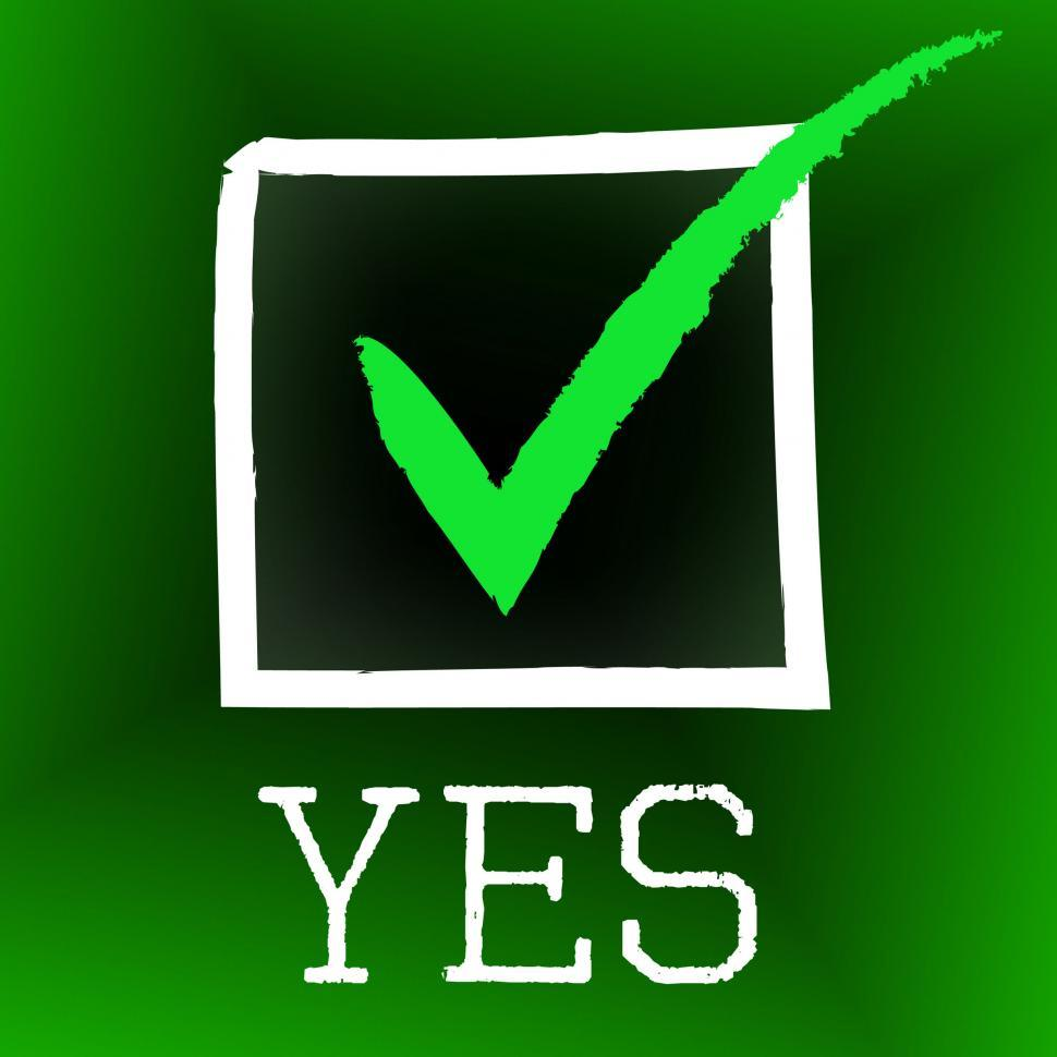 Download Free Stock HD Photo of Yes Tick Indicates O.K. Ok And Mark Online