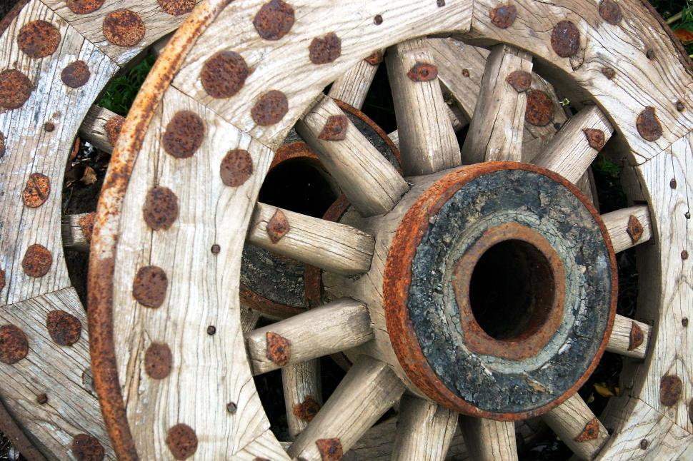 Download Free Stock HD Photo of Old wagon wheels Online