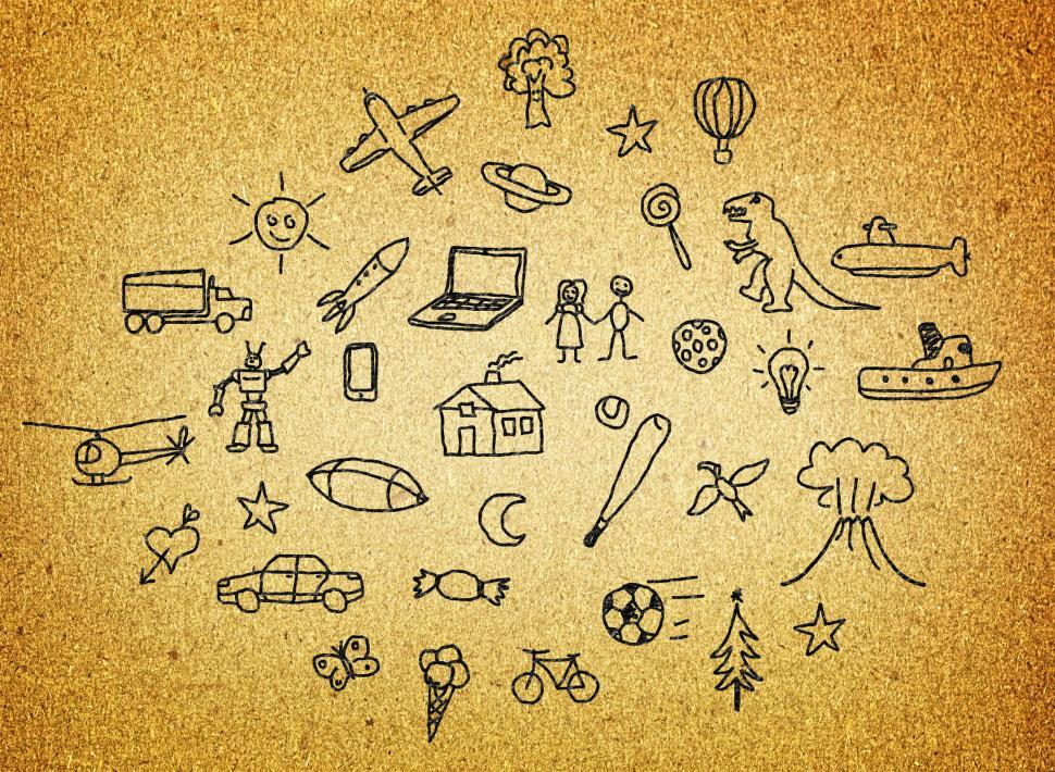 Download Free Stock HD Photo of Dreams and Hopes - Childrens Drawing Online