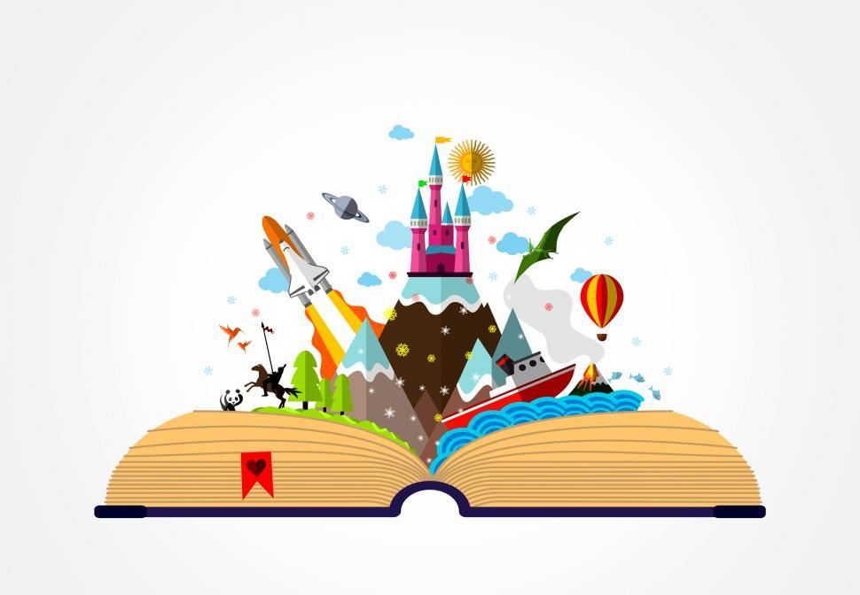 Download Free Stock HD Photo of Story Book - Childhood Imagination Concept Online