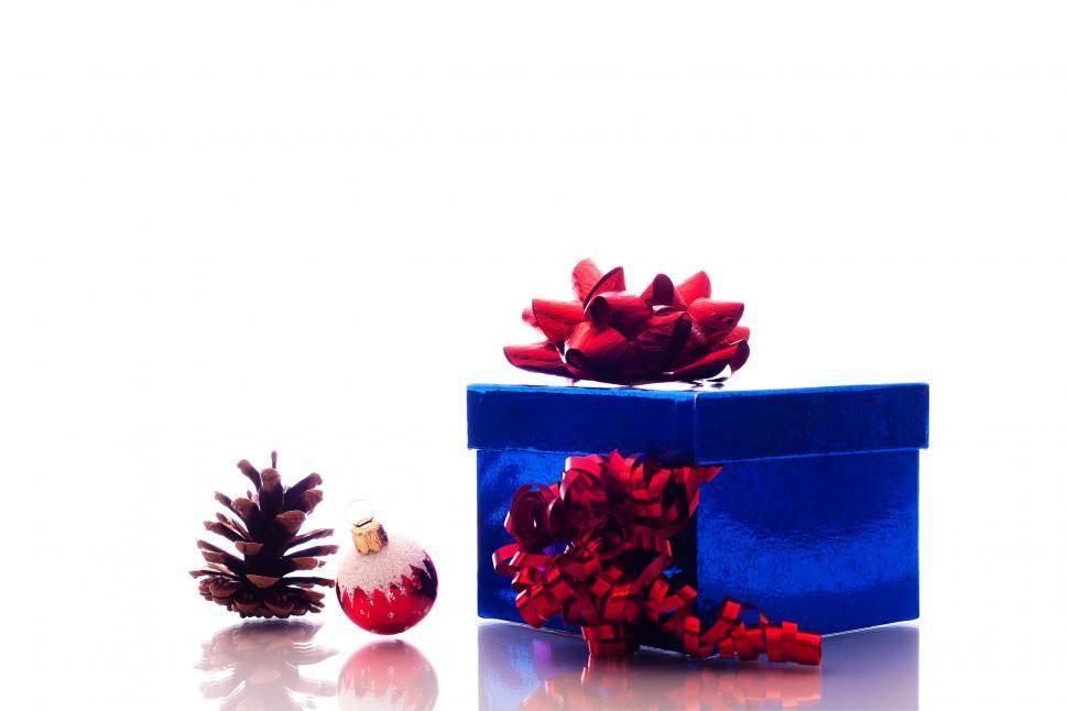 Download Free Stock HD Photo of Christmas ornaments and gift box Online