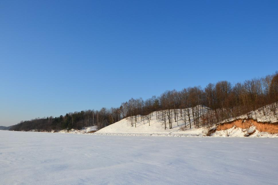 Download Free Stock HD Photo of Kaunas reservoir in winter Online