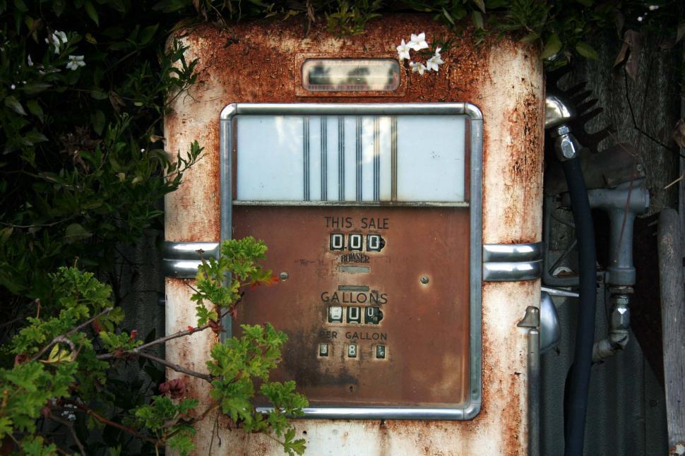 Download Free Stock HD Photo of Display on vintage gas pump Online