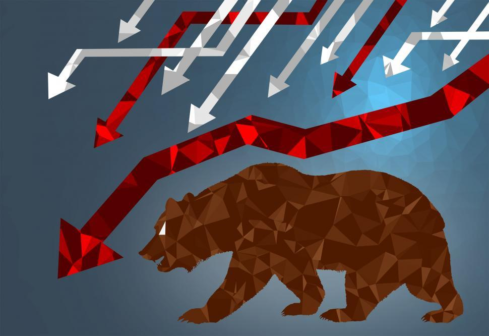 Download Free Stock HD Photo of Bear Market - Markets are Falling Online