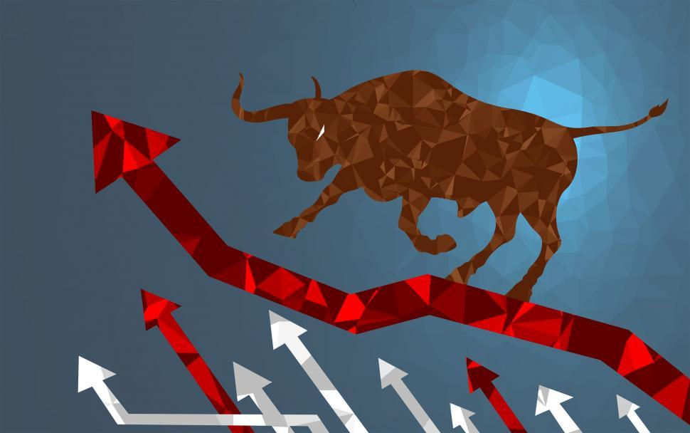 Download Free Stock HD Photo of Bull Market - Markets are Climbing Online