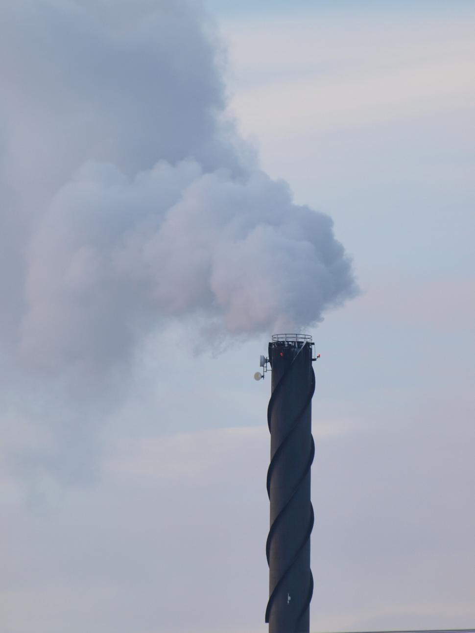 Download Free Stock HD Photo of Big Chimney Spews Smoke Online