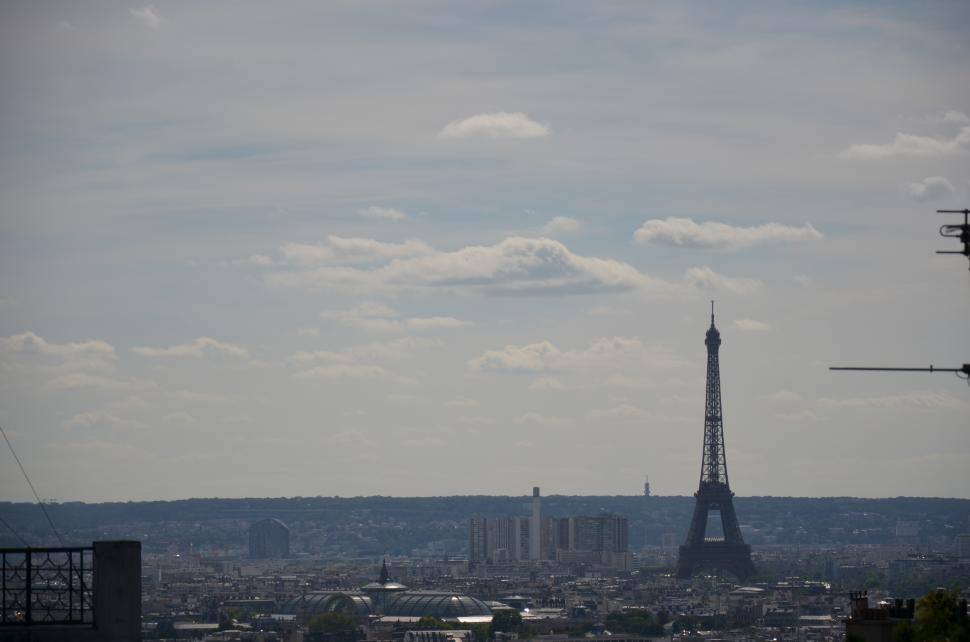 Download Free Stock HD Photo of Distant Eiffel tower, Paris, France Online