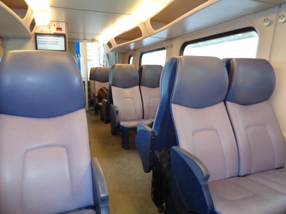 Download Free Stock HD Photo of Inside Dutch Train  Online