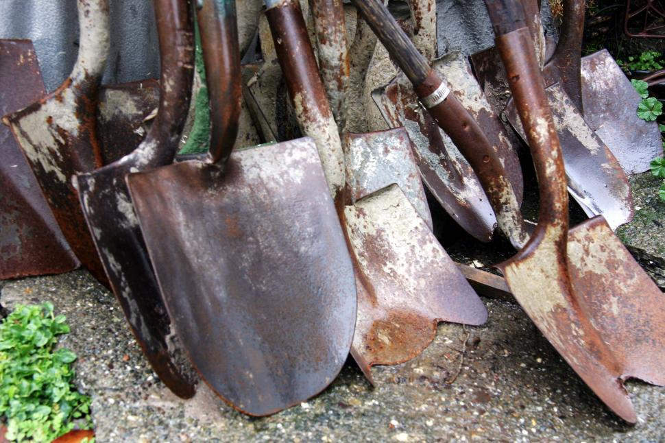 Download Free Stock HD Photo of Old shovel heads Online