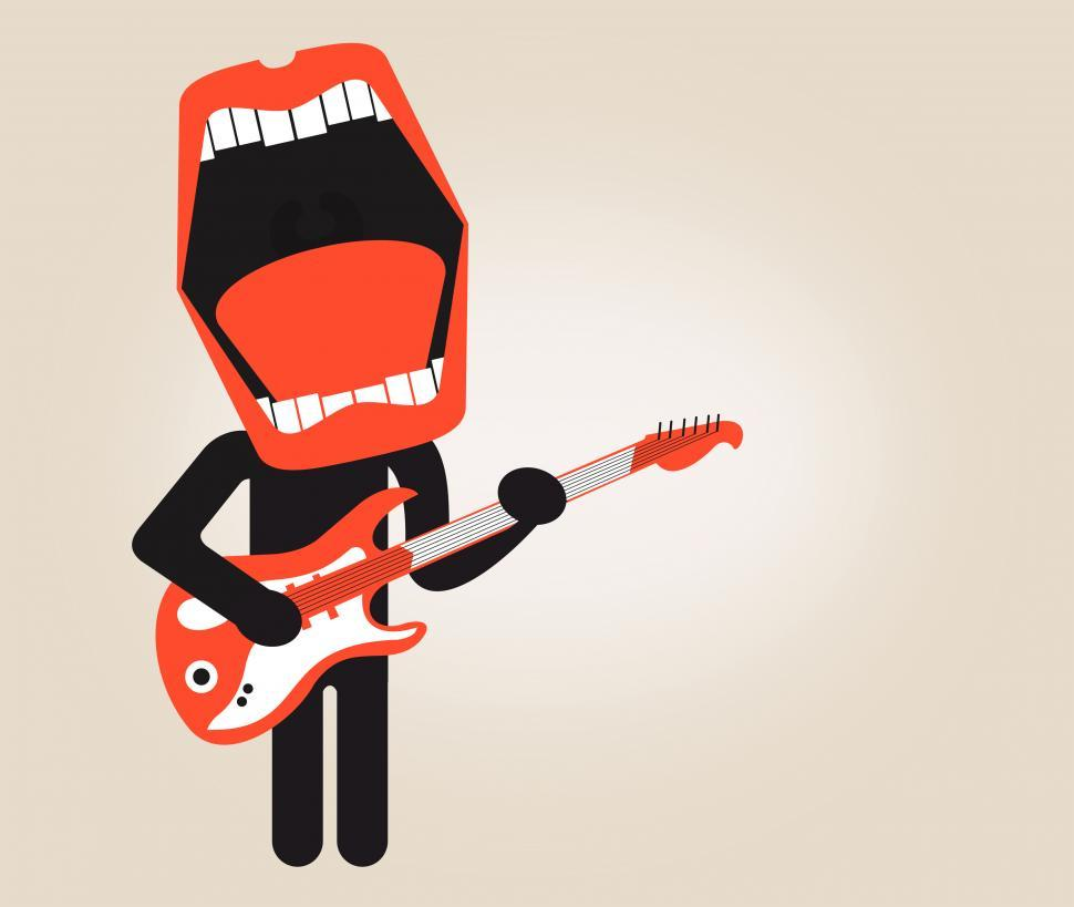 Download Free Stock HD Photo of Singer playing electric guitar - Stylized looks Online
