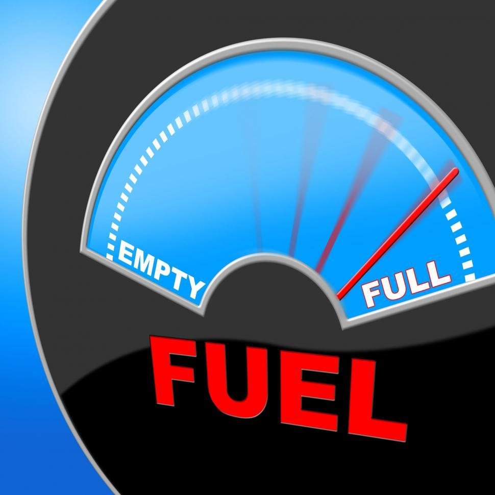 Download Free Stock HD Photo of Fuel Full Shows Energy Gauge And Power Online