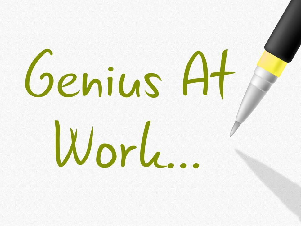 Download Free Stock HD Photo of Genius At Work Indicates Intellectual Capacity And Brilliance Online