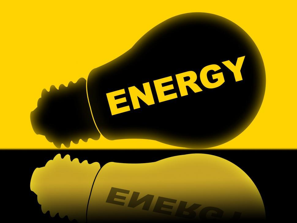Download Free Stock HD Photo of Energy Lightbulb Shows Power Source And Advertisement Online