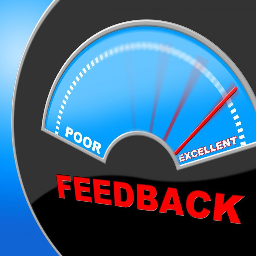 Download Free Stock HD Photo of Excellent Feedback Shows Review Surveying And Satisfaction Online