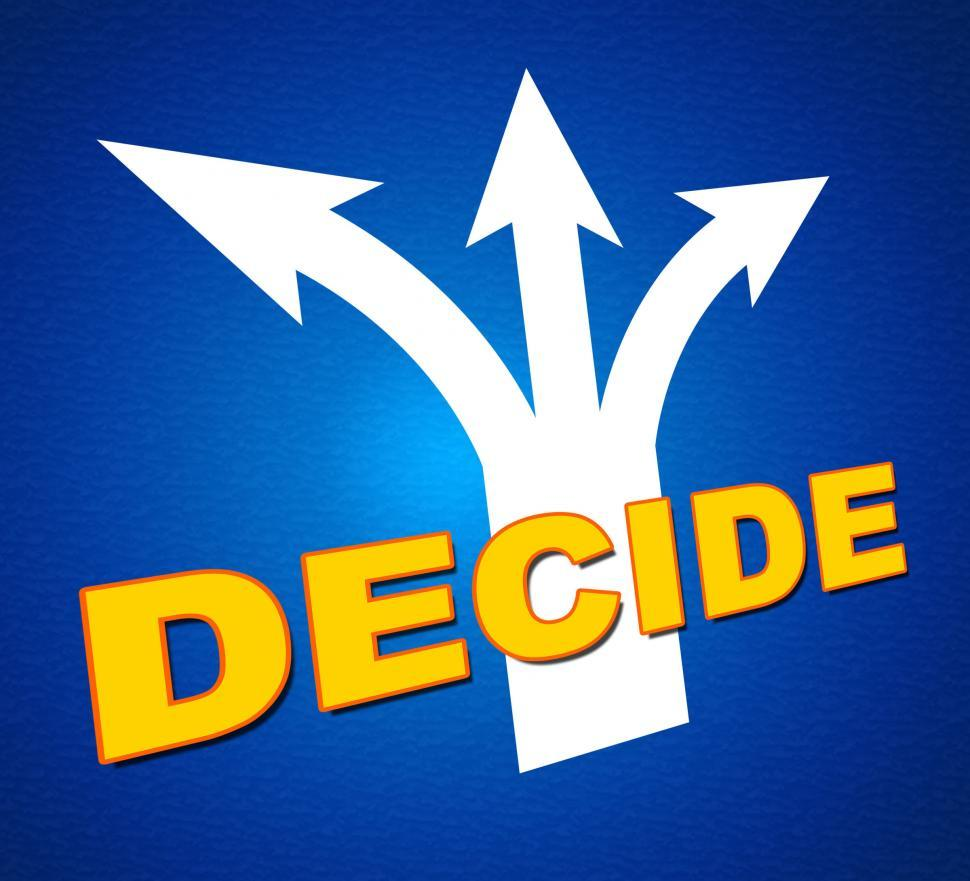 Download Free Stock HD Photo of Decide Arrows Indicates Vote Indecisive And Choice Online