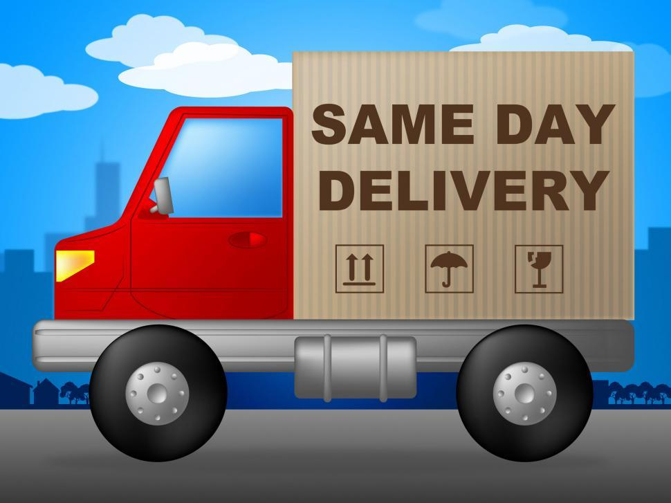 Download Free Stock HD Photo of Same Day Delivery Represents Fast Shipping And Distribution Online