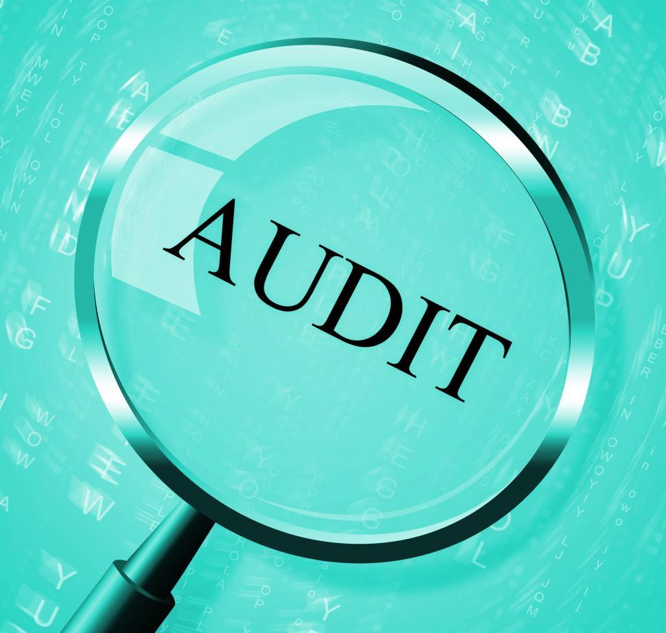 Download Free Stock HD Photo of Audit Magnifier Shows Searching Auditing And Magnification Online