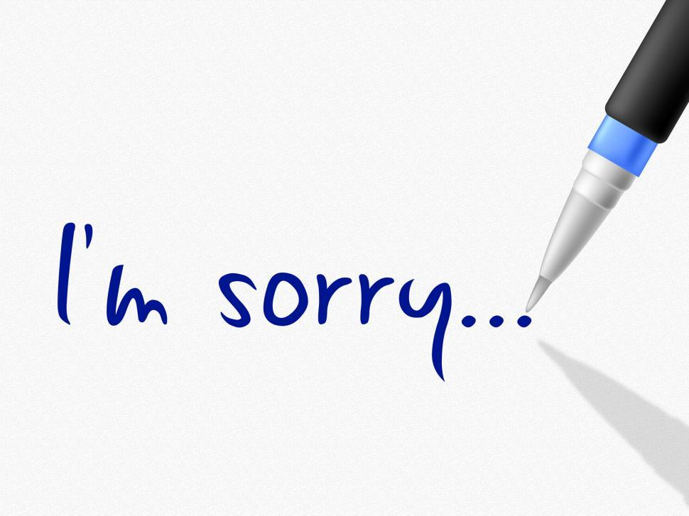 Download Free Stock HD Photo of I m Sorry Represents Regret Contact And Communication Online