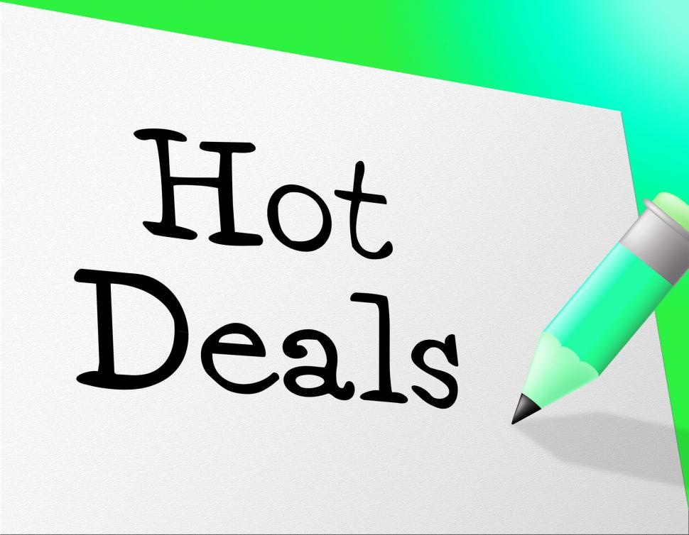 Download Free Stock HD Photo of Hot Deals Represents Save Retail And Sales Online