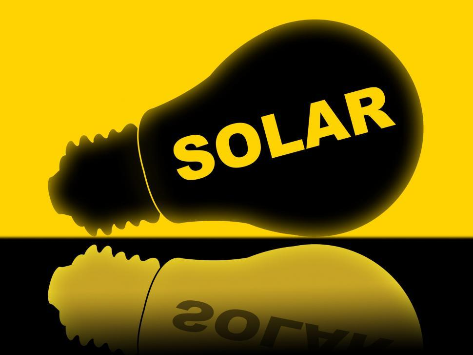 Download Free Stock HD Photo of Solar Power Represents Energy Source And Electricity Online