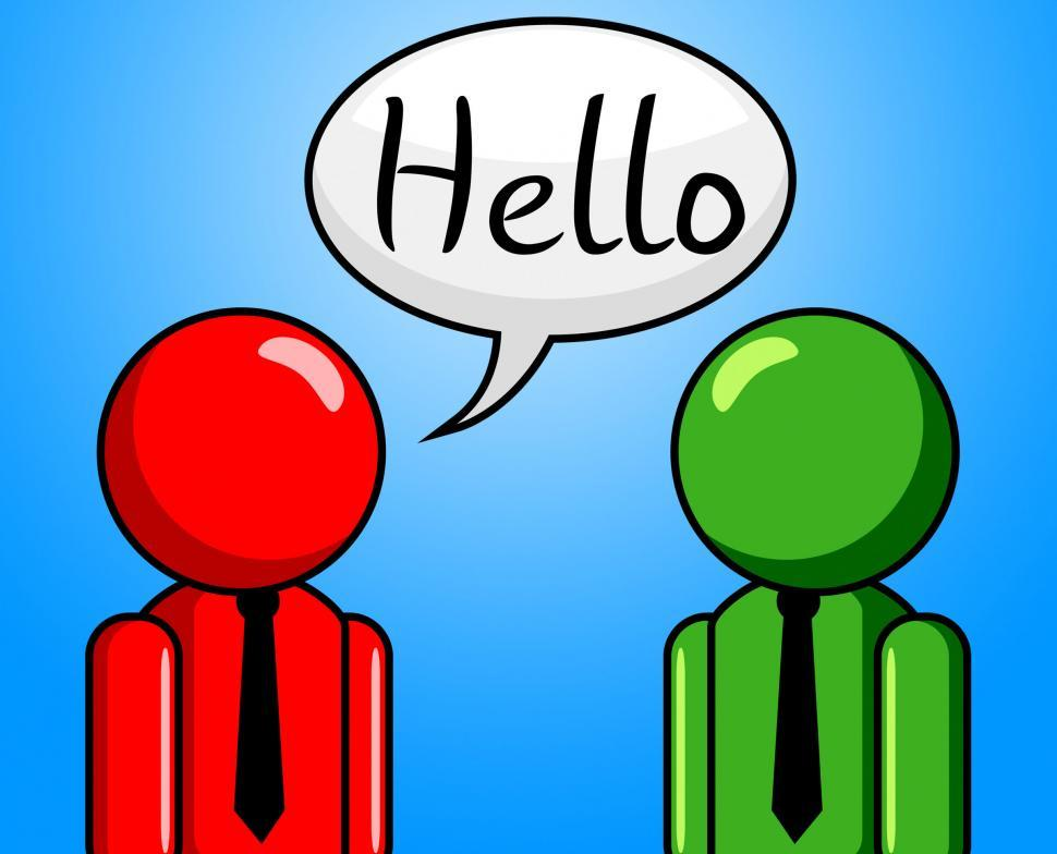 Download Free Stock HD Photo of Hello Conversation Means How Are You And Consultation Online