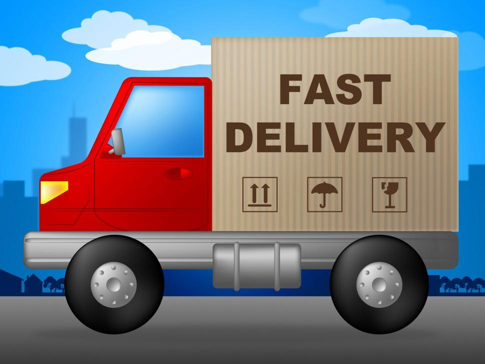 Download Free Stock HD Photo of Fast Delivery Indicates High Speed And Action Online