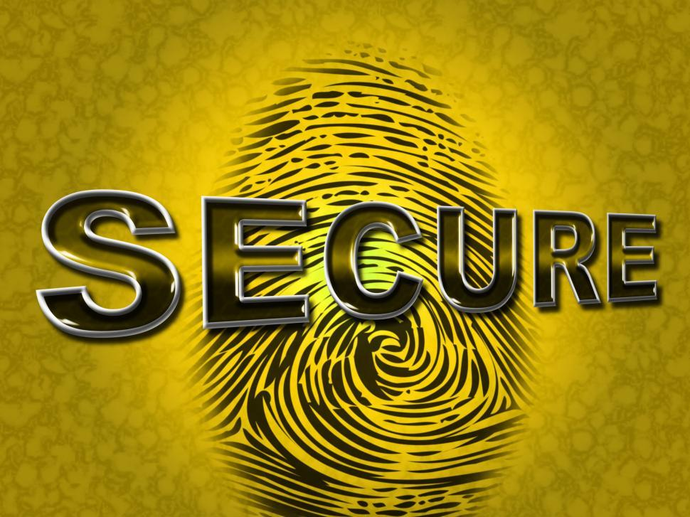 Download Free Stock HD Photo of Secure Access Indicates Password Fingerprint And Protected Online