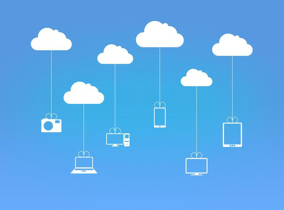 Download Free Stock HD Photo of Devices and the Digital Cloud  Online